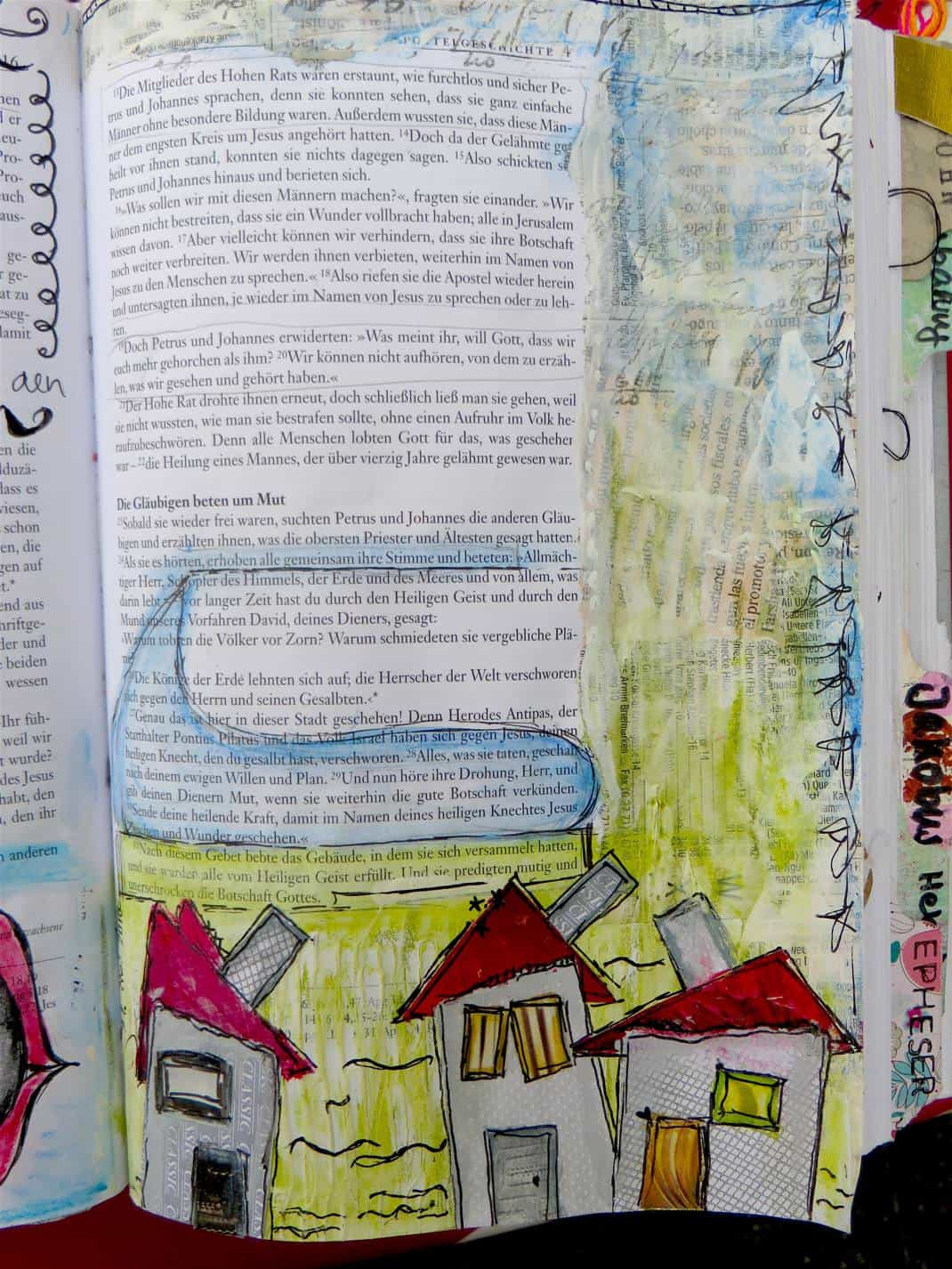 Mixed Media Anleitung Zu Apg 4 Von Annejbbible Art Journaling