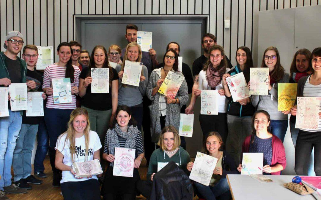 Bible Art Journaling an der Ev. Hochschule