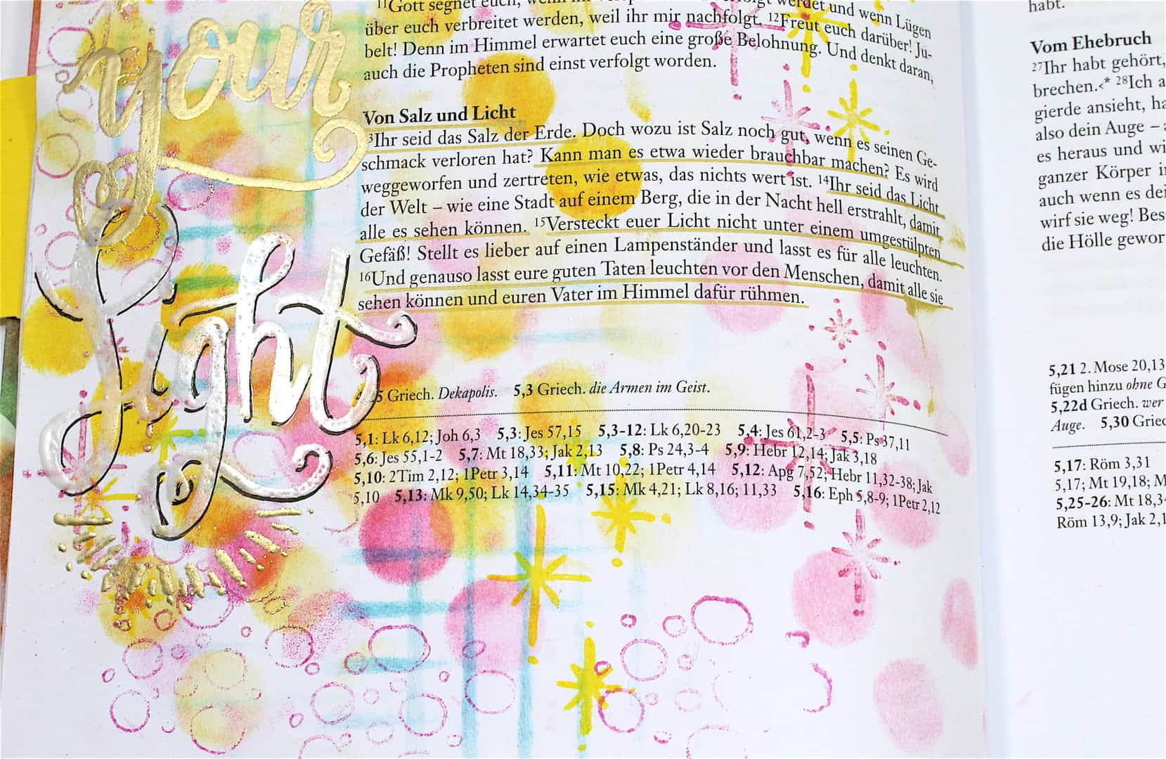 Sei Licht! - Bible Art Journaling