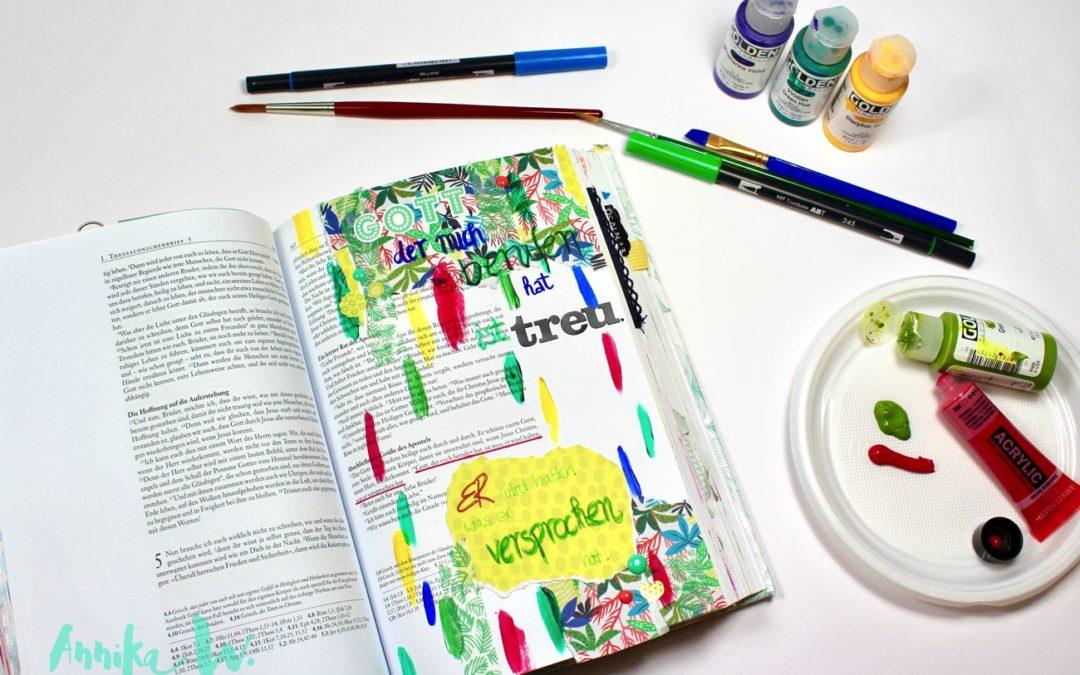 Wie Funktioniert Bible Art Journaling Das Mochte Ich Hier Zeigen Von Gott Berufen